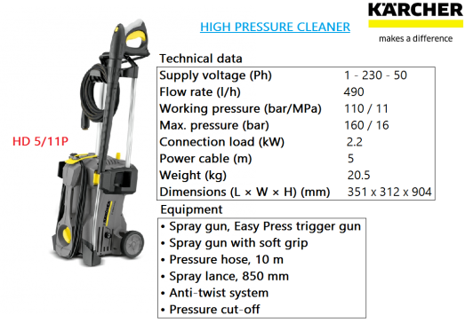 hd-5-11p-karcher-heavy-duty-industrial-commercial-high-pressure-water-jet-cleaner