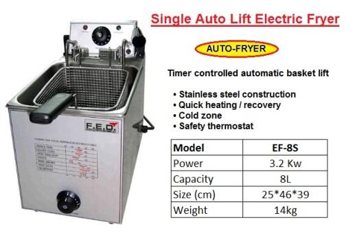 F2 auto Deep fryer EF-8S pengoreng