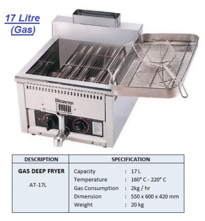 F2 Deep fryer AT-17 pengoreng
