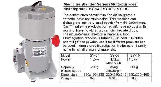 Lc4 Medicine Blender SY-04  SY-07  SY-10
