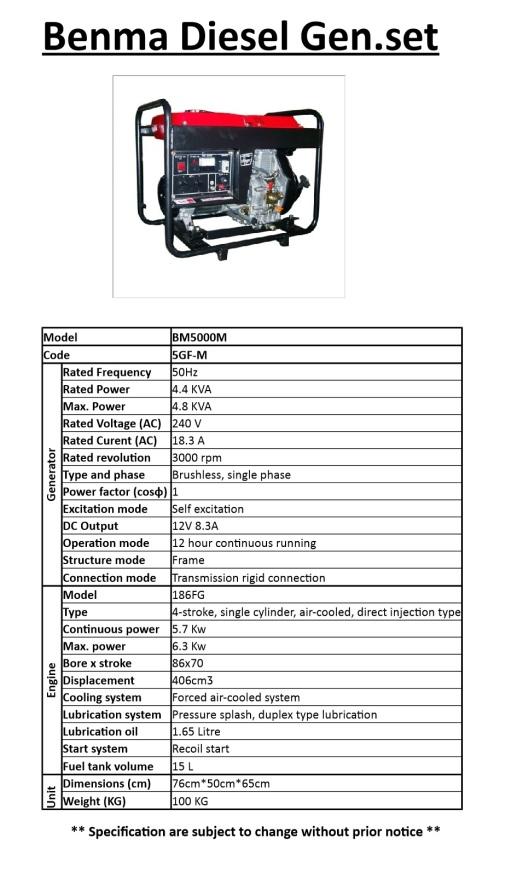 benma-diesel-generator-bm5000m