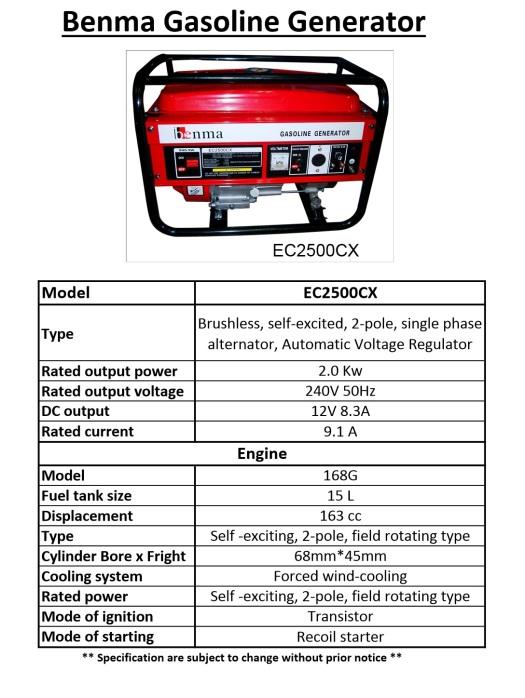benma-petrol-generator-ec2500cx