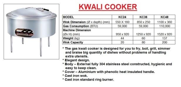 E10A kwali cooker dapur besar kuali