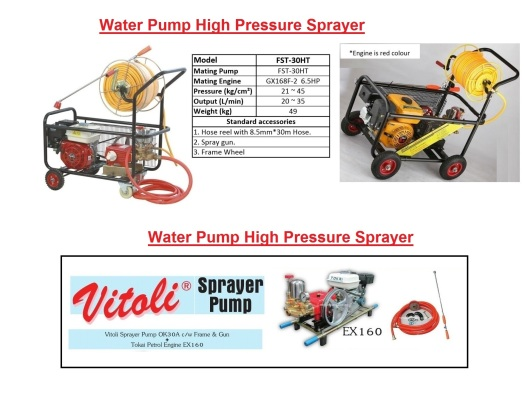 fst-30ht-and-ex160-water-pump-high-pressure-sprayer-cleaner-petrol-engine