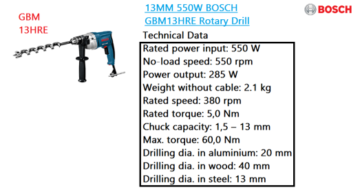 gbm-13hre-bosch-rotary-drill-power-tool