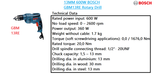 gbm-13re-bosch-rotary-drill-power-tool