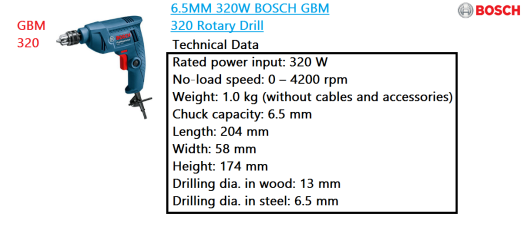 gbm-320-bosch-rotary-drill-power-tool