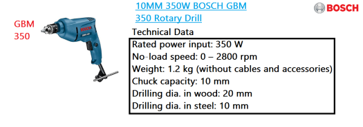 gbm-350-bosch-rotary-drill-power-tool