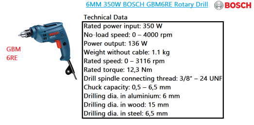 gbm-6re-bosch-rotary-drill-power-tool