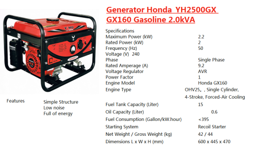 generator-honda-yh2500gx