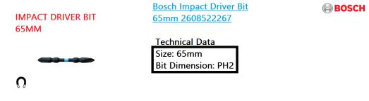 impact-driver-bit-65mm-bosch-power-tool