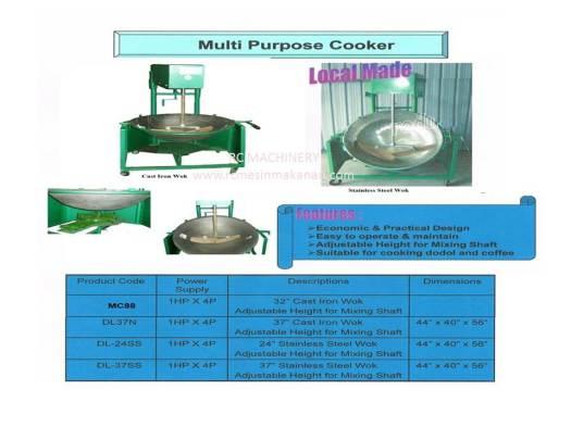multi purpose cooker, malaysia multi purpose cooker, cooker, mixer,mesin pengacau dodol, mesin kacau dodol