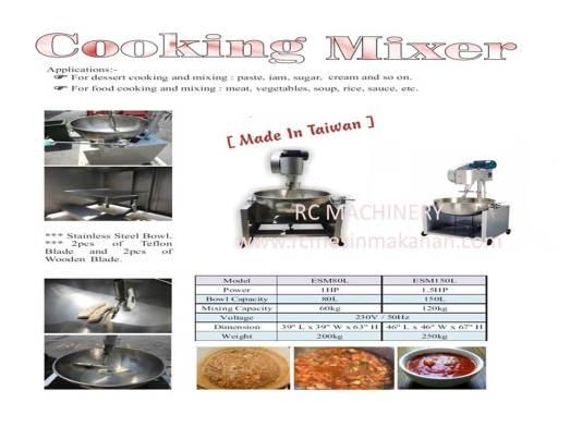 taiwan cooking mixer, multi purpose cooker, stainless steel multi purpose cooker, mesin pengacau,mesin kacau dodol