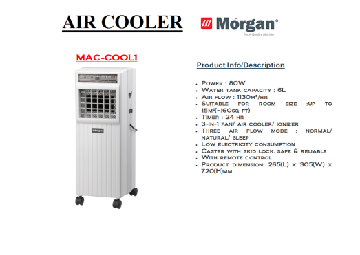 air cooler MAC-COOL 1(Penyejuk Udara)