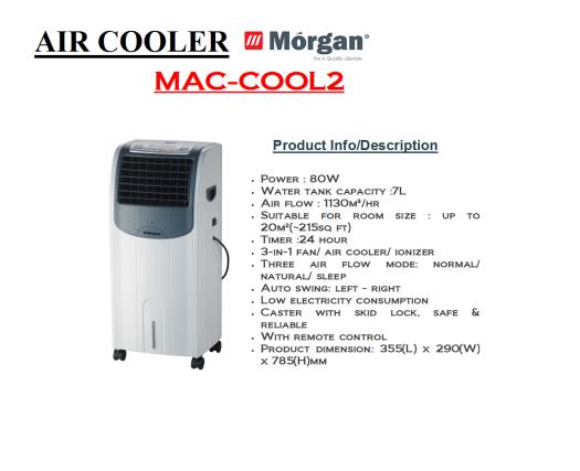 air cooler- MAC COOL 2 (Penyejuk Udara)