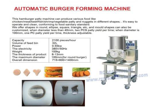 automatic hamburger, forming machine, mesin membuat burger, burger maker