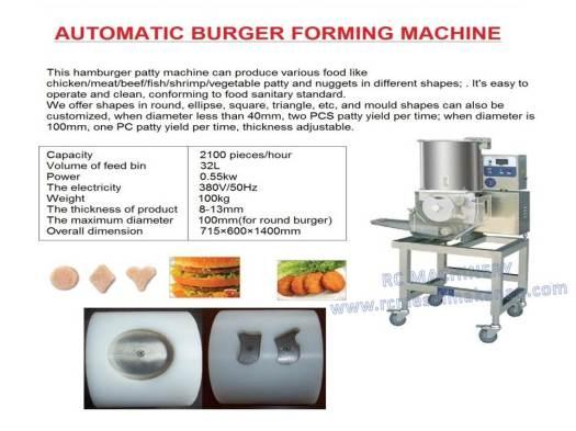 automatic hamburger, forming machine, mesin membuat burger, burger maker