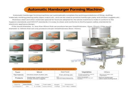 automatic hamburger, forming machine, mesin membuat burger