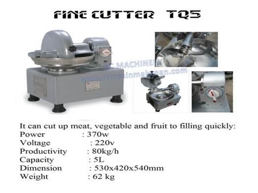fine cutter, cutter, QS620B, mesin daging, TQ5