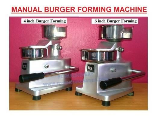 hamburger, forming machine, mesin membuat burger, mesin manual burger