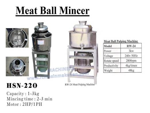 meat ball mincer, mesin daging