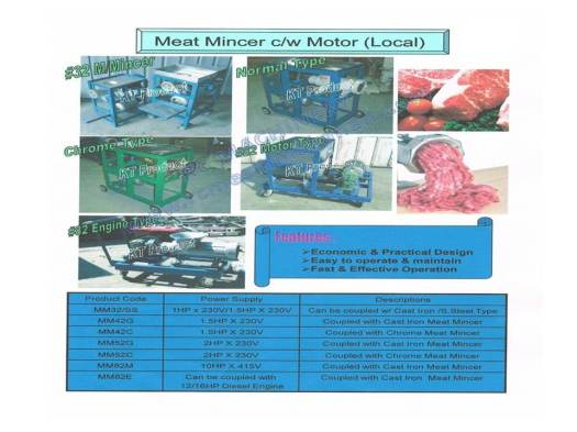 meat mincer, meat mincer with cover, meat grinder, MM32, MM42