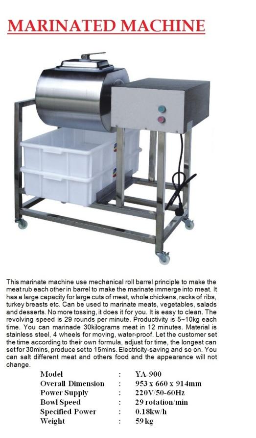 N10 meat marinator YA-900