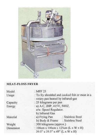 N11  Meat-Floss Fryer-MFF25 mesin masak serunding