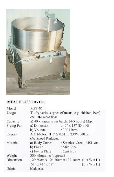 N11 Meat-Floss Fryer-MFF40 mesin masak serunding