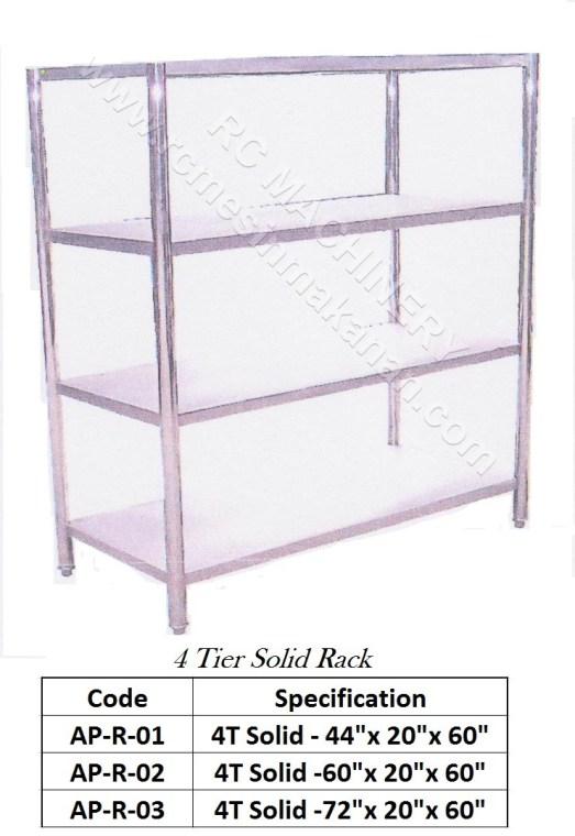 Solid Rack (4 Tier)