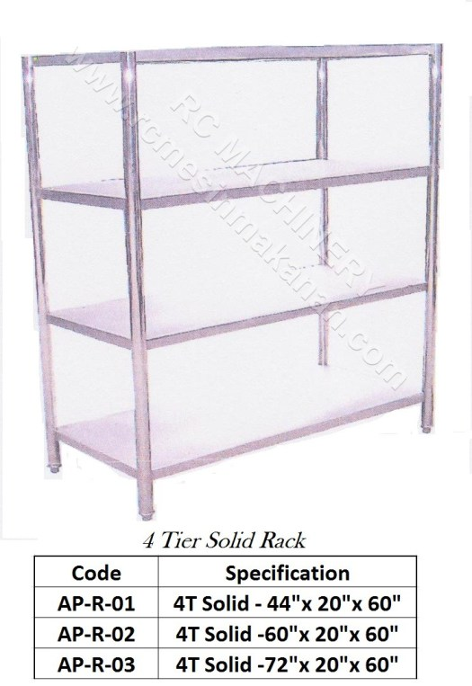 Solid Rack (4 Tier)