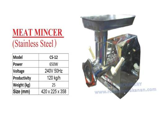 stainless steel meat mincer, meat grinder, mesin daging, CS12