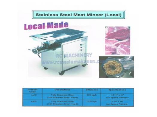 stainless steel meat mincer, meat grinder, mesin daging, SS42, SS52