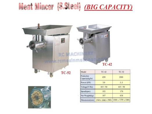 stainless steel meat mincer, meat grinder, mesin daging, TC52, TC42