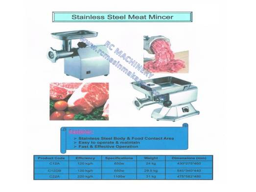 stainless steel meat mincer, meat grinder, mesin daging