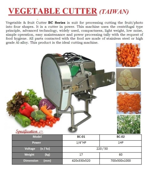R1 vegetable cutter BC Series  Mesin Pemotong Sayur
