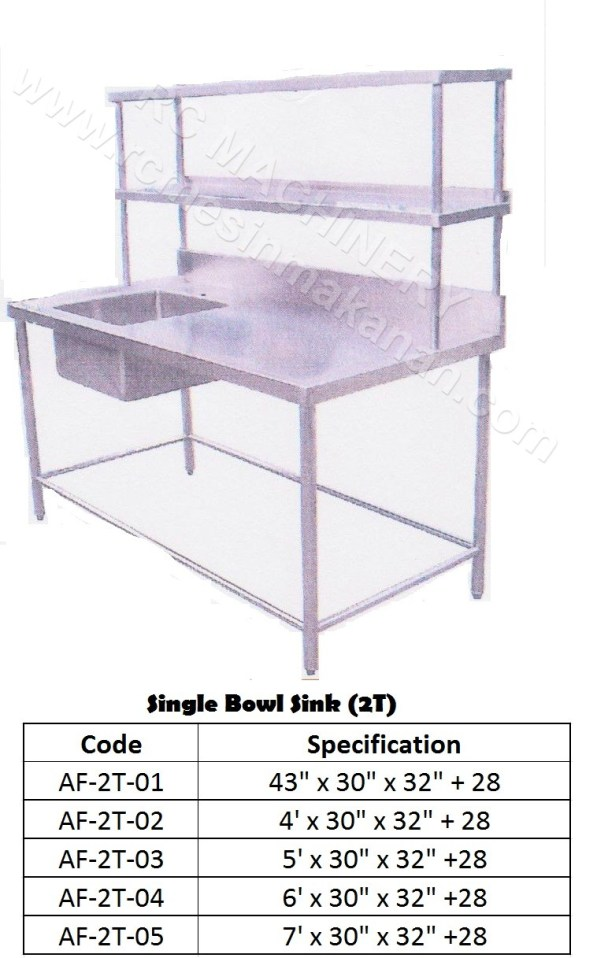 Single Bowl Sink (2T)