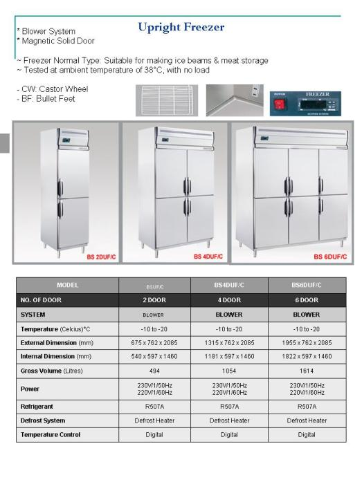 Upright Freezer ( peti beku )