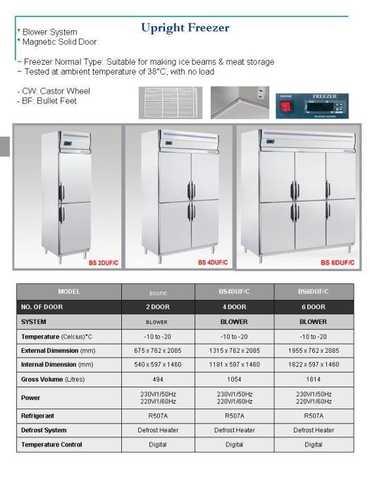 Upright Freezer ( peti beku )