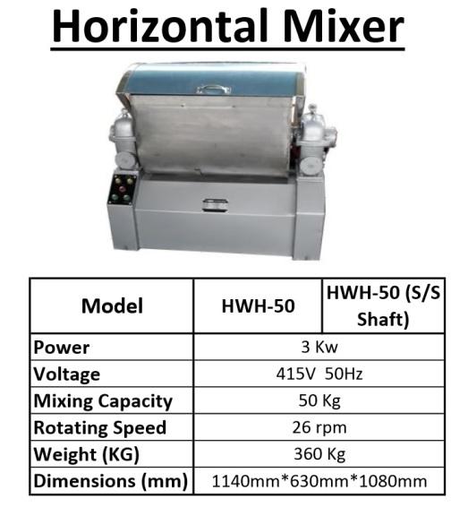 A4 HWH-50 Horizontol Mixer mesin pengaul tepung