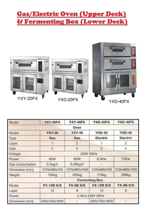 Ba5 electric OVEN PROVER Fermenting