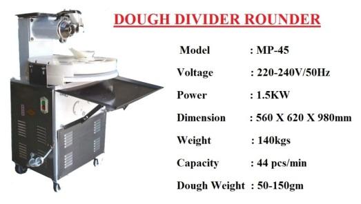 C2 dough divider rounder mp45 Machine Mesin pembahagi pembulat Doh