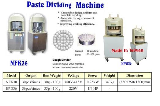 C3 dough divider Machine Mesin pembahagi Doh