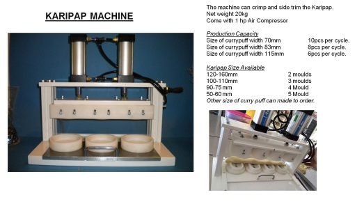 C5 Karipap mesin Curry puff machine