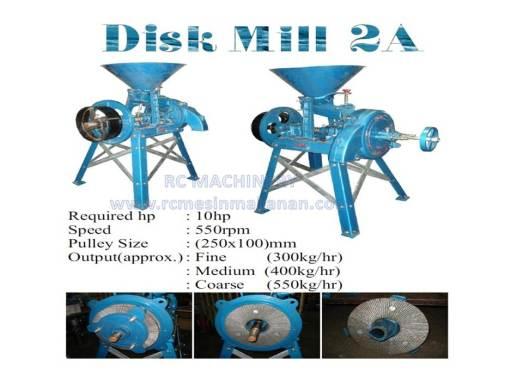 disk mill 2A, disk mill machine, mesin pengisar, mesin mengisar beras, kacang