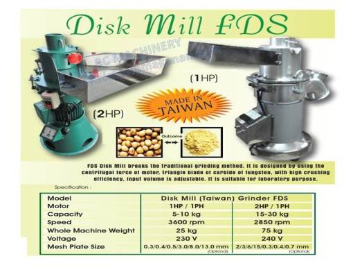 disk mill machine, disk mill, mesin pengisar, mengisar tepung, beras, kacang