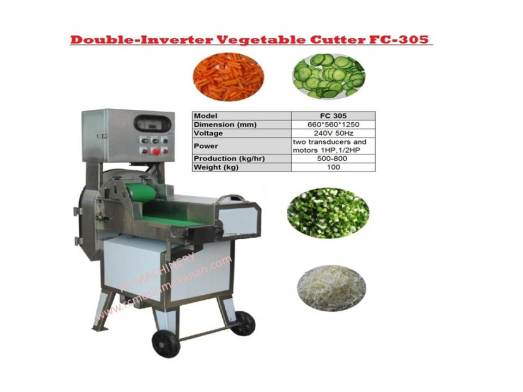 double inverter vegetable cutter FC305, vegetable cutter, pemotong lobak, bawang kentang