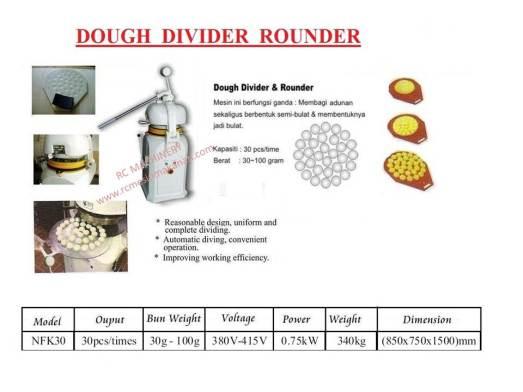 dough divider rounder, mesin dough, mesin tepung, mesin pembahagi tepung