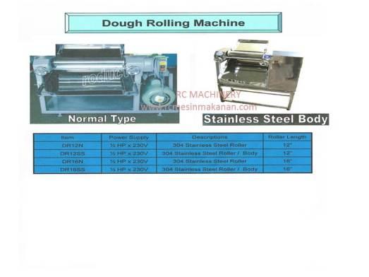 dough moulder, dough rolling machine, mesin dough, mesin tepung, meleper tepung