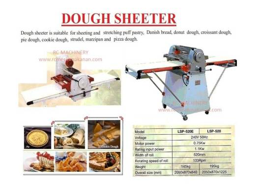 dough sheeter, meratakan tepung, mesin dough